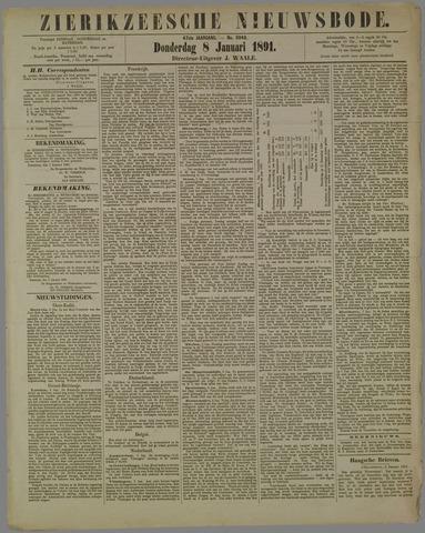 Zierikzeesche Nieuwsbode 1891-01-08