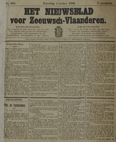 Nieuwsblad voor Zeeuwsch-Vlaanderen 1898-10-01