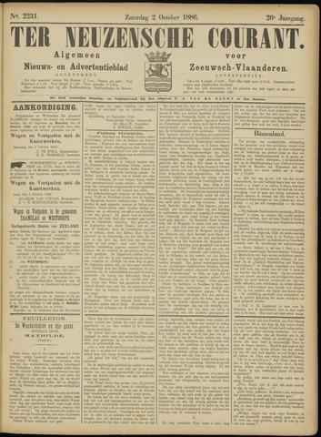 Ter Neuzensche Courant. Algemeen Nieuws- en Advertentieblad voor Zeeuwsch-Vlaanderen / Neuzensche Courant ... (idem) / (Algemeen) nieuws en advertentieblad voor Zeeuwsch-Vlaanderen 1886-10-02