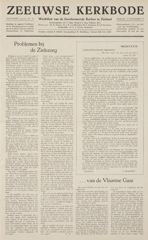Zeeuwsche kerkbode, weekblad gewijd aan de belangen der gereformeerde kerken/ Zeeuwsch kerkblad 1959-11-13