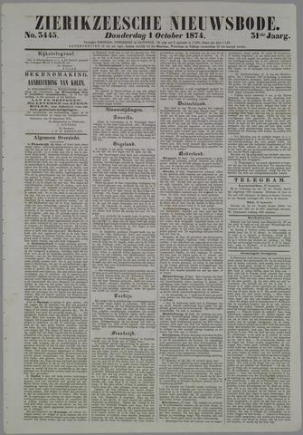 Zierikzeesche Nieuwsbode 1874-10-01