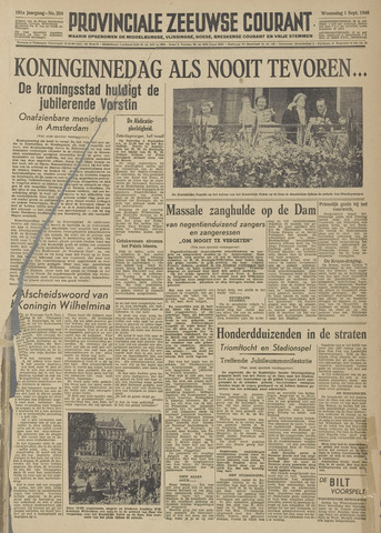 Provinciale Zeeuwse Courant 1948-09-01