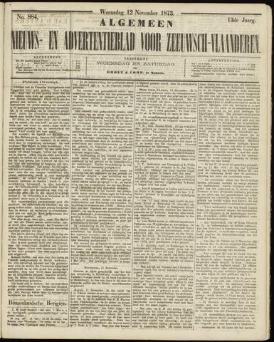 Ter Neuzensche Courant. Algemeen Nieuws- en Advertentieblad voor Zeeuwsch-Vlaanderen / Neuzensche Courant ... (idem) / (Algemeen) nieuws en advertentieblad voor Zeeuwsch-Vlaanderen 1873-11-12