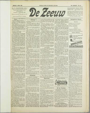 De Zeeuw. Christelijk-historisch nieuwsblad voor Zeeland 1934-04-03