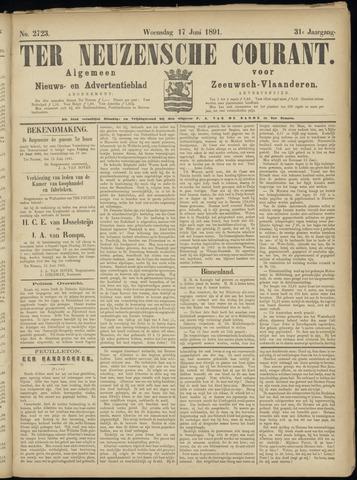 Ter Neuzensche Courant. Algemeen Nieuws- en Advertentieblad voor Zeeuwsch-Vlaanderen / Neuzensche Courant ... (idem) / (Algemeen) nieuws en advertentieblad voor Zeeuwsch-Vlaanderen 1891-06-17