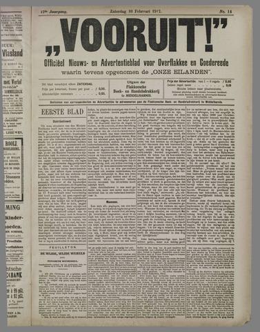 """""""Vooruit!""""Officieel Nieuws- en Advertentieblad voor Overflakkee en Goedereede 1917-02-10"""