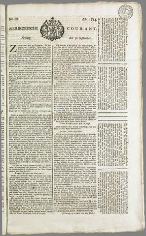 Zierikzeesche Courant 1814-09-30