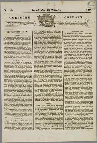 Goessche Courant 1849-10-25