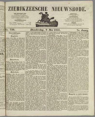Zierikzeesche Nieuwsbode 1851-05-08
