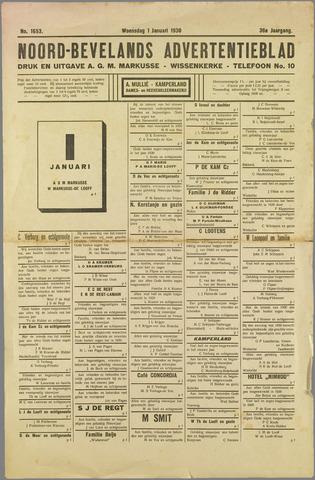 Noord-Bevelands Nieuws- en advertentieblad 1930