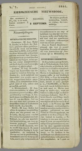 Zierikzeesche Nieuwsbode 1844-09-02