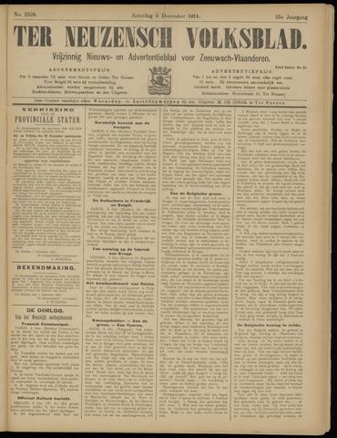 Ter Neuzensch Volksblad. Vrijzinnig nieuws- en advertentieblad voor Zeeuwsch- Vlaanderen / Zeeuwsch Nieuwsblad. Nieuws- en advertentieblad voor Zeeland 1914-12-05