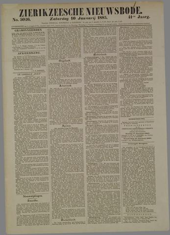 Zierikzeesche Nieuwsbode 1885-01-10