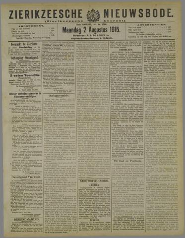 Zierikzeesche Nieuwsbode 1915-08-02