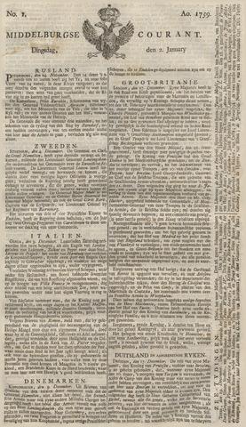 Middelburgsche Courant 1759