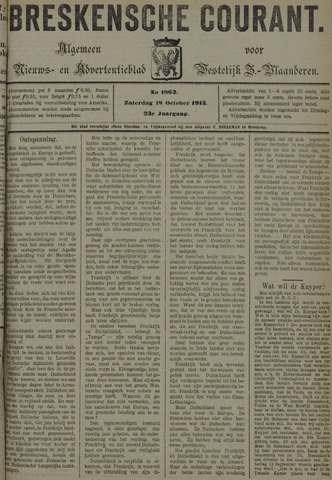 Breskensche Courant 1913-10-18