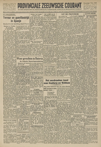 Provinciale Zeeuwse Courant 1945-11-07