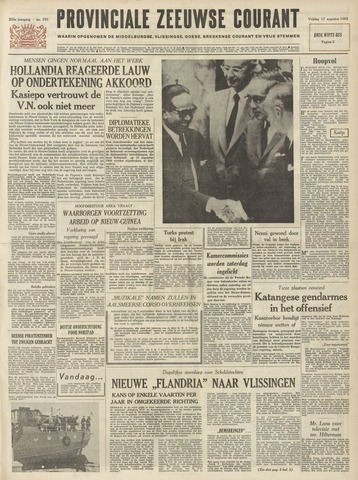 Provinciale Zeeuwse Courant 1962-08-17