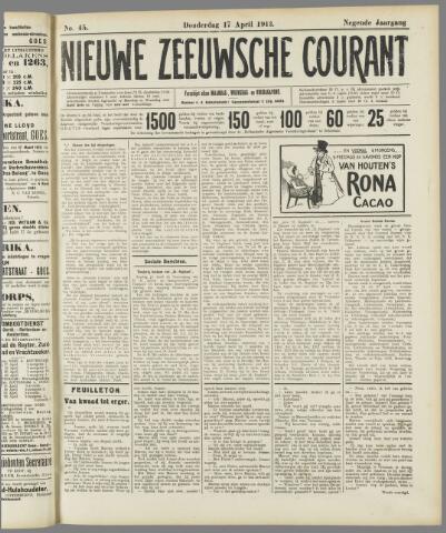 Nieuwe Zeeuwsche Courant 1913-04-17