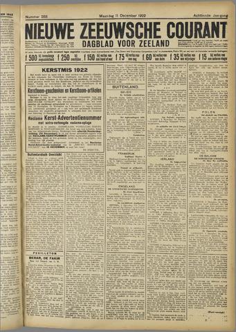 Nieuwe Zeeuwsche Courant 1922-12-11