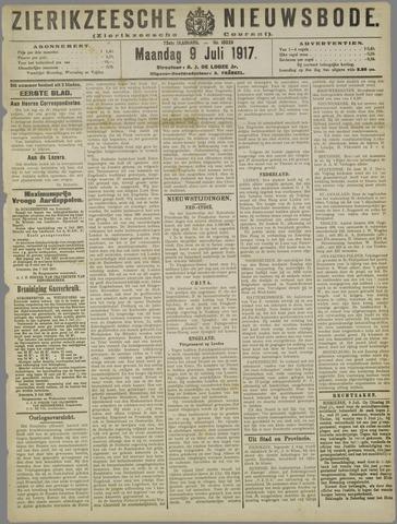 Zierikzeesche Nieuwsbode 1917-07-09