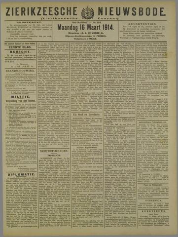 Zierikzeesche Nieuwsbode 1914-03-16