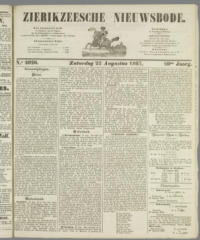 Zierikzeesche Nieuwsbode 1863-08-22