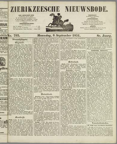 Zierikzeesche Nieuwsbode 1851-09-08
