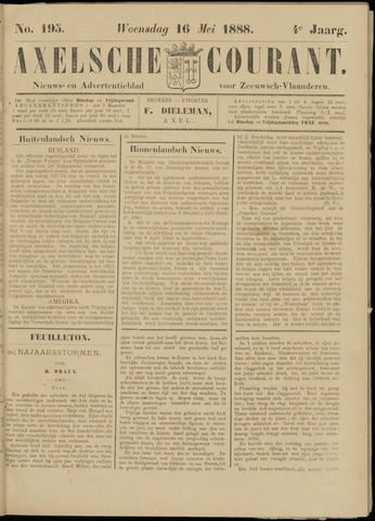 Axelsche Courant 1888-05-16