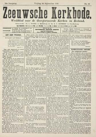 Zeeuwsche kerkbode, weekblad gewijd aan de belangen der gereformeerde kerken/ Zeeuwsch kerkblad 1920-09-24