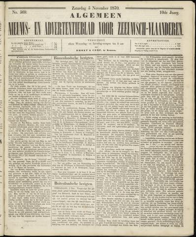 Ter Neuzensche Courant. Algemeen Nieuws- en Advertentieblad voor Zeeuwsch-Vlaanderen / Neuzensche Courant ... (idem) / (Algemeen) nieuws en advertentieblad voor Zeeuwsch-Vlaanderen 1870-11-05