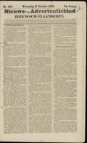 Ter Neuzensche Courant. Algemeen Nieuws- en Advertentieblad voor Zeeuwsch-Vlaanderen / Neuzensche Courant ... (idem) / (Algemeen) nieuws en advertentieblad voor Zeeuwsch-Vlaanderen 1860-10-17