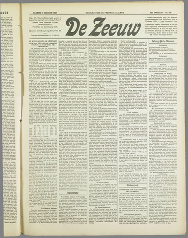 De Zeeuw. Christelijk-historisch nieuwsblad voor Zeeland 1934-02-05
