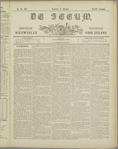 De Zeeuw. Christelijk-historisch nieuwsblad voor Zeeland 1897-11-11