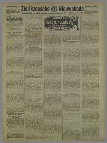 Zierikzeesche Nieuwsbode 1923-01-24