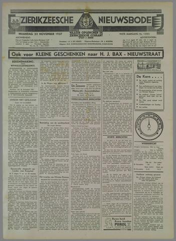 Zierikzeesche Nieuwsbode 1937-11-22