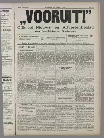 """""""Vooruit!""""Officieel Nieuws- en Advertentieblad voor Overflakkee en Goedereede 1912-01-10"""