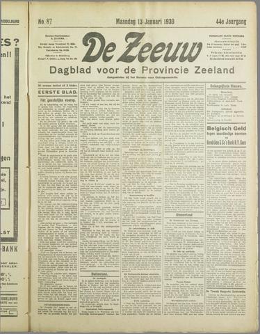 De Zeeuw. Christelijk-historisch nieuwsblad voor Zeeland 1930-01-13