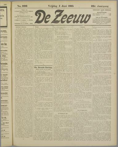 De Zeeuw. Christelijk-historisch nieuwsblad voor Zeeland 1915-06-04
