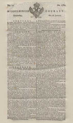 Middelburgsche Courant 1764-01-26