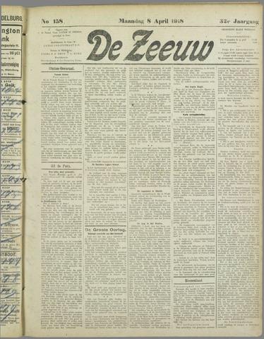 De Zeeuw. Christelijk-historisch nieuwsblad voor Zeeland 1918-04-08
