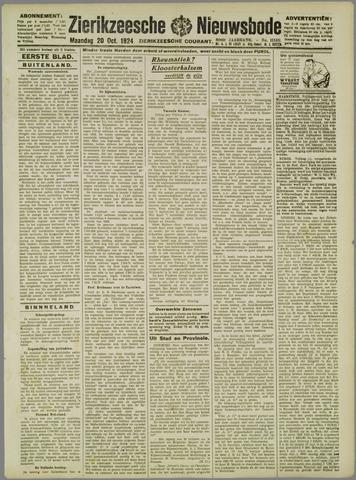 Zierikzeesche Nieuwsbode 1924-10-20