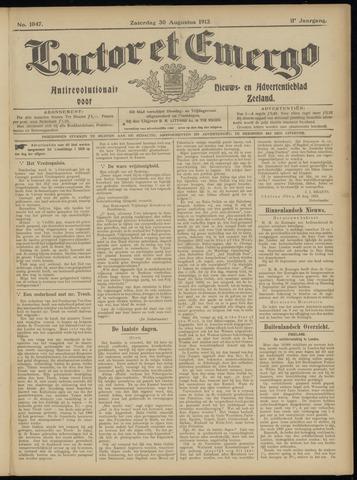 Luctor et Emergo. Antirevolutionair nieuws- en advertentieblad voor Zeeland / Zeeuwsch-Vlaanderen. Orgaan ter verspreiding van de christelijke beginselen in Zeeuwsch-Vlaanderen 1913-08-30