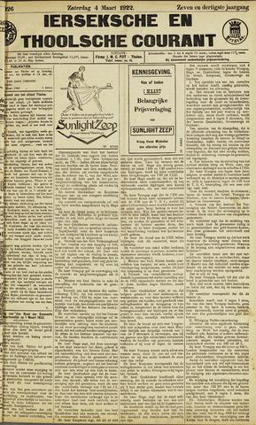 Ierseksche en Thoolsche Courant 1922-03-04