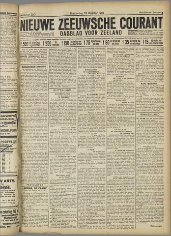 Nieuwe Zeeuwsche Courant 1922-10-26