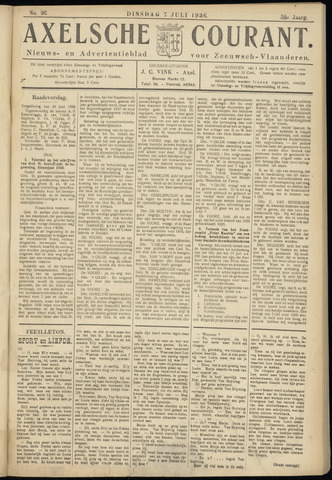 Axelsche Courant 1936-07-07