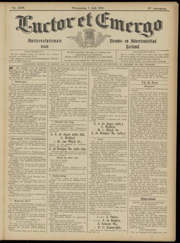 Luctor et Emergo. Antirevolutionair nieuws- en advertentieblad voor Zeeland / Zeeuwsch-Vlaanderen. Orgaan ter verspreiding van de christelijke beginselen in Zeeuwsch-Vlaanderen 1915-07-07