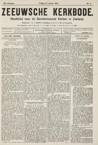 Zeeuwsche kerkbode, weekblad gewijd aan de belangen der gereformeerde kerken/ Zeeuwsch kerkblad 1925-01-23