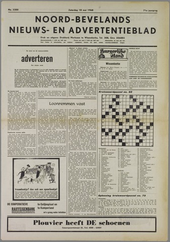 Noord-Bevelands Nieuws- en advertentieblad 1968-05-18