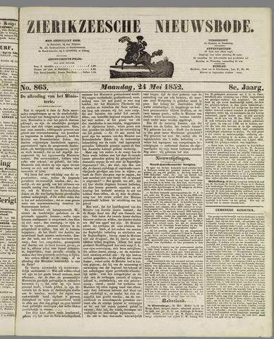 Zierikzeesche Nieuwsbode 1852-05-24